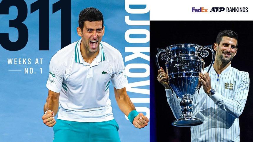 Novak Djokovic a stabilit un record istoric. L-a lăsat în urmă pe Roger Federer