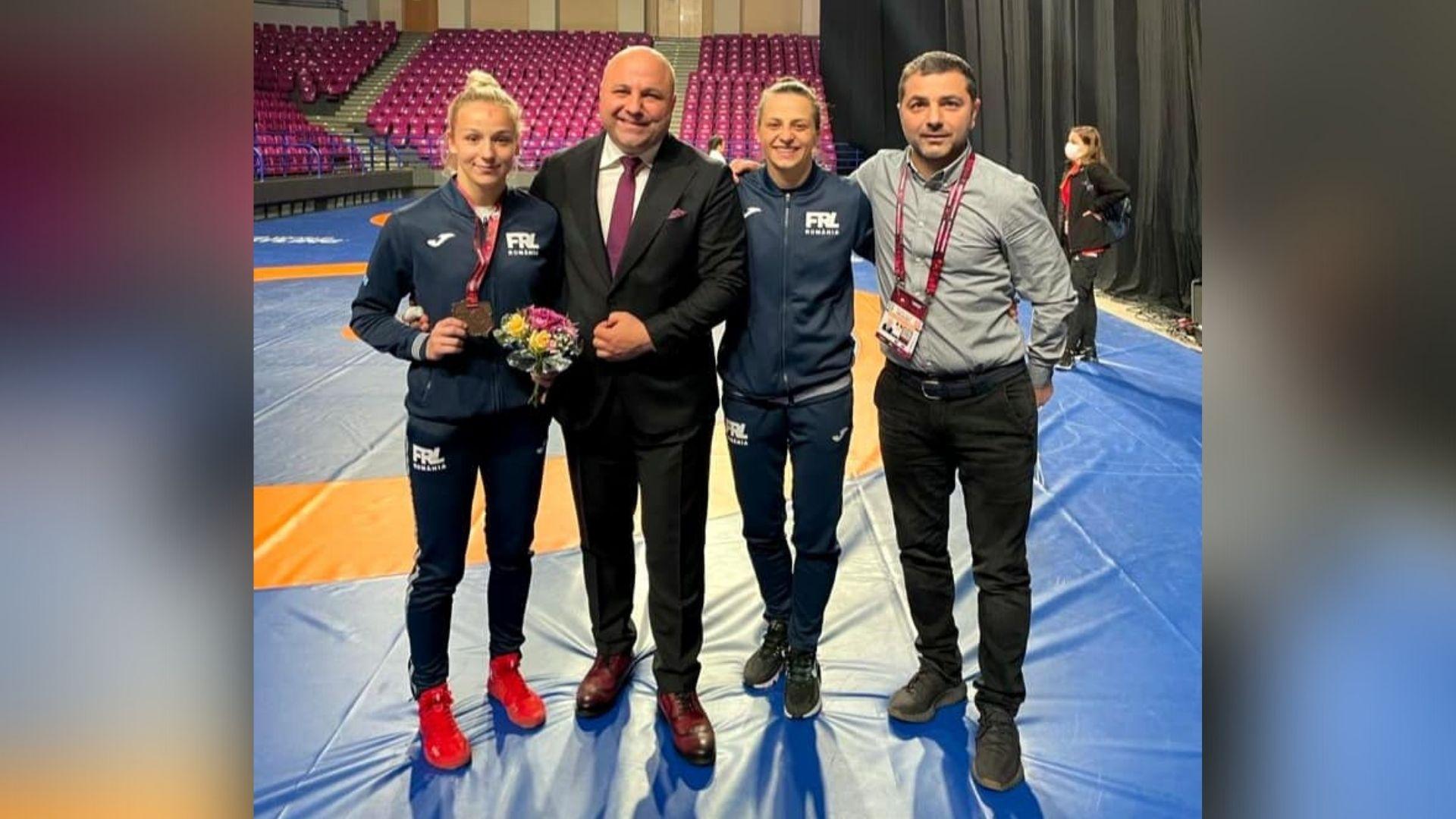 Andreea Beatrice Ana şi Kateryna Zhydachevska, medalii la Europenele de lupte