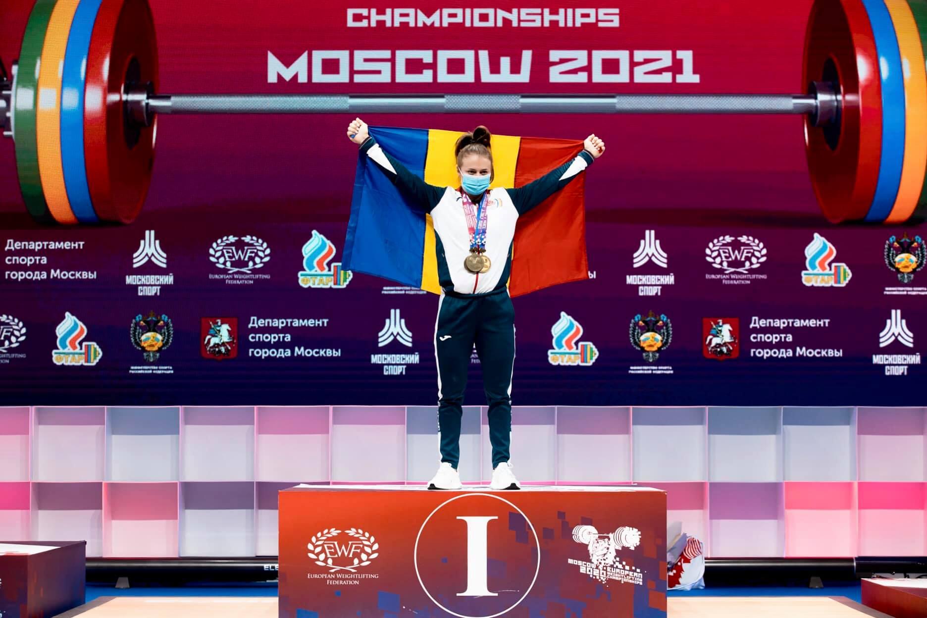 O româncă, desemnată cea mai valoroasă sportivă a Europenelor de haltere